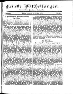 Neueste Mittheilungen vom 29.05.1886