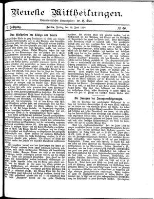 Neueste Mittheilungen vom 18.06.1886