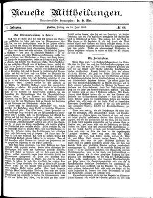 Neueste Mittheilungen vom 25.06.1886