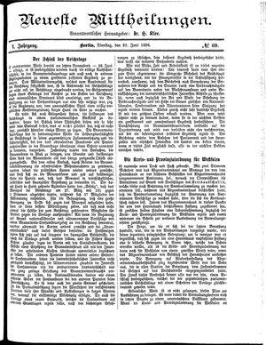 Neueste Mittheilungen vom 29.06.1886