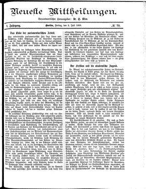 Neueste Mittheilungen vom 02.07.1886