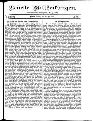 Neueste Mittheilungen vom 20.07.1886