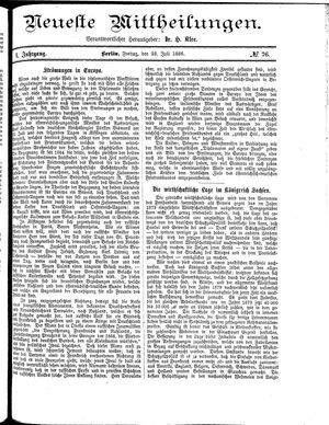 Neueste Mittheilungen vom 23.07.1886