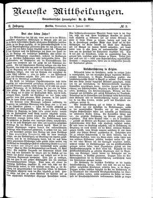 Neueste Mittheilungen on Jan 8, 1887