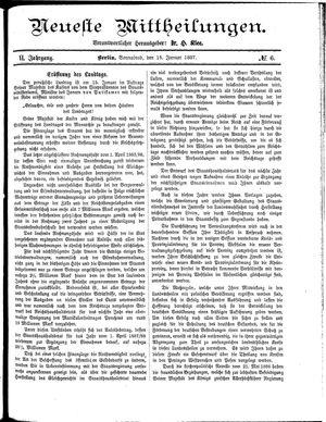 Neueste Mittheilungen vom 15.01.1887
