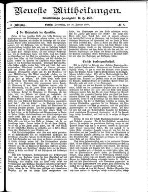 Neueste Mittheilungen vom 20.01.1887