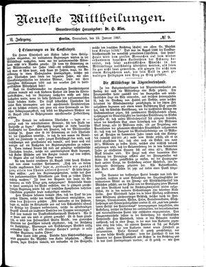 Neueste Mittheilungen vom 22.01.1887