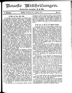 Neueste Mittheilungen vom 03.02.1887