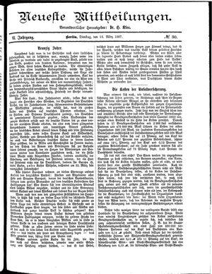 Neueste Mittheilungen vom 15.03.1887