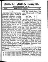 Neueste Mittheilungen (17.03.1887)