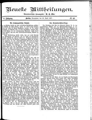 Neueste Mittheilungen vom 23.04.1887