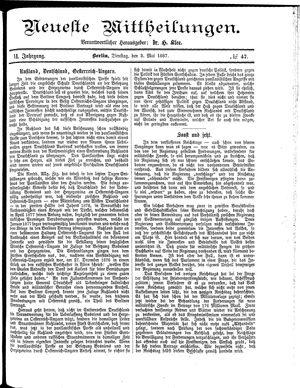 Neueste Mittheilungen on May 3, 1887