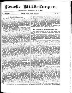 Neueste Mittheilungen vom 06.05.1887