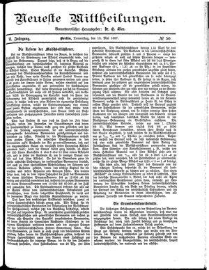 Neueste Mittheilungen vom 12.05.1887