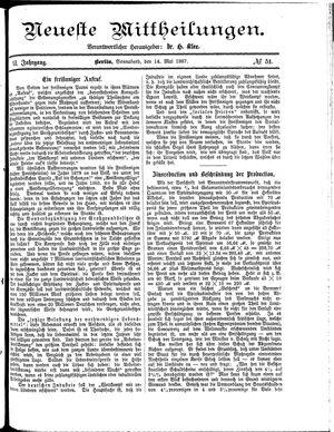 Neueste Mittheilungen vom 14.05.1887