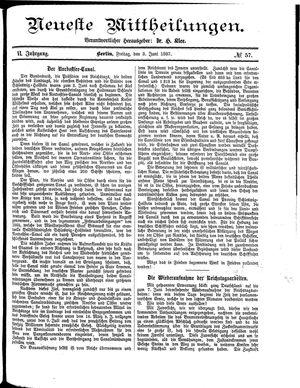 Neueste Mittheilungen vom 03.06.1887