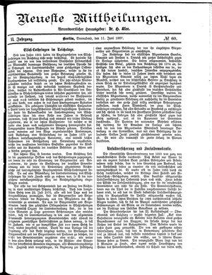 Neueste Mittheilungen vom 11.06.1887