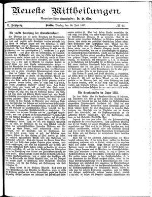 Neueste Mittheilungen vom 14.06.1887