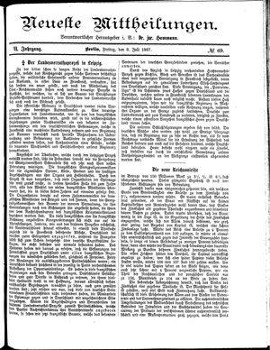Neueste Mittheilungen vom 08.07.1887