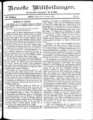 Neueste Mittheilungen on Jan 14, 1889