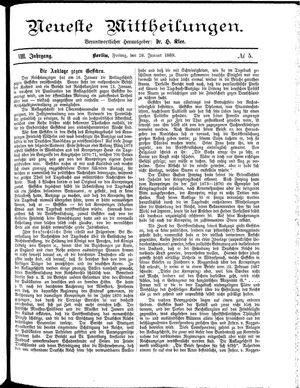 Neueste Mittheilungen on Jan 18, 1889
