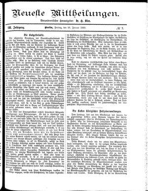 Neueste Mittheilungen vom 25.01.1889