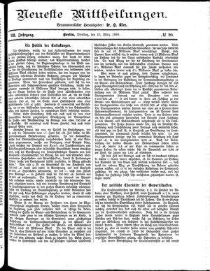 Neueste Mittheilungen vom 12.03.1889