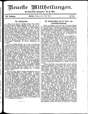 Neueste Mittheilungen vom 03.05.1889