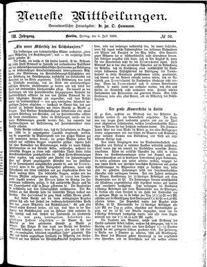 Neueste Mittheilungen vom 05.07.1889