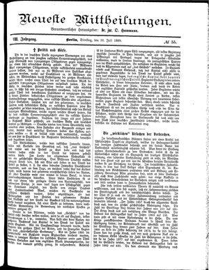 Neueste Mittheilungen on Jul 16, 1889
