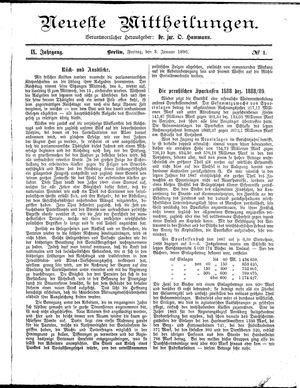 Neueste Mittheilungen vom 03.01.1890