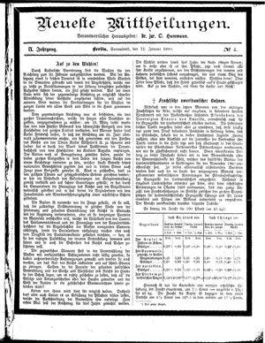 Neueste Mittheilungen vom 11.01.1890