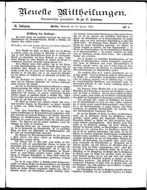 Neueste Mittheilungen vom 15.01.1890