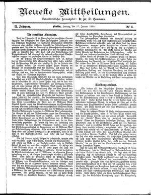 Neueste Mittheilungen vom 17.01.1890
