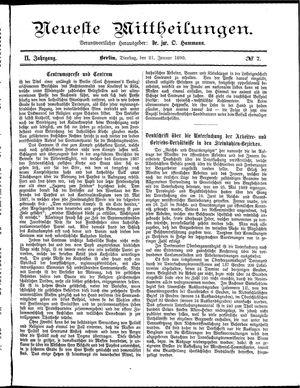 Neueste Mittheilungen vom 21.01.1890