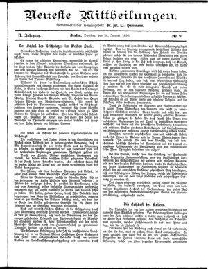 Neueste Mittheilungen vom 28.01.1890