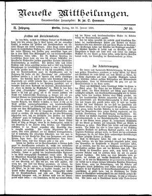 Neueste Mittheilungen vom 31.01.1890