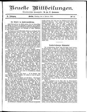 Neueste Mittheilungen vom 04.02.1890