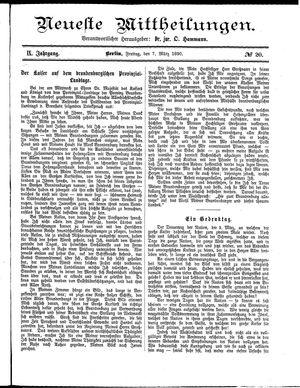 Neueste Mittheilungen vom 07.03.1890
