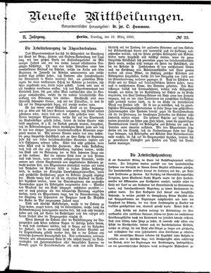 Neueste Mittheilungen vom 18.03.1890