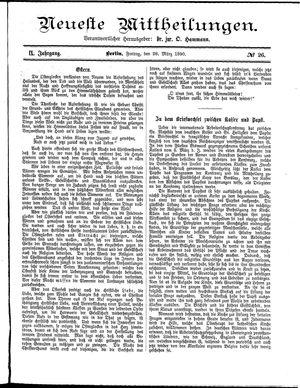 Neueste Mittheilungen vom 28.03.1890