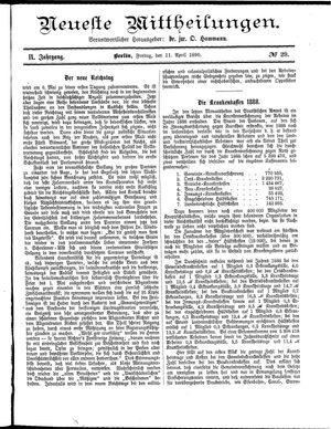 Neueste Mittheilungen vom 11.04.1890