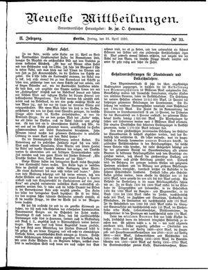 Neueste Mittheilungen vom 25.04.1890