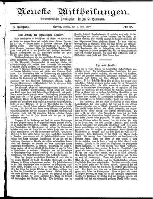 Neueste Mittheilungen vom 02.05.1890