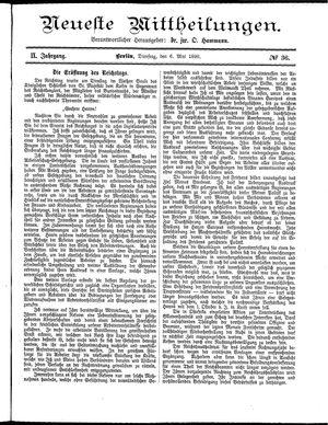 Neueste Mittheilungen vom 06.05.1890
