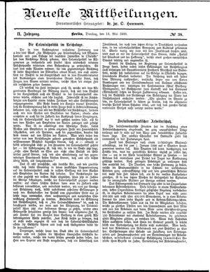 Neueste Mittheilungen vom 13.05.1890