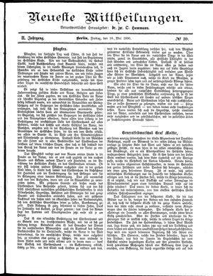 Neueste Mittheilungen vom 16.05.1890