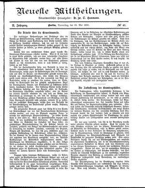 Neueste Mittheilungen vom 22.05.1890