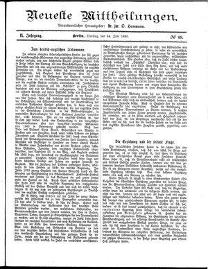 Neueste Mittheilungen vom 24.06.1890