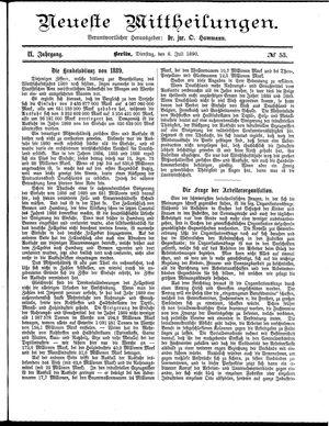 Neueste Mittheilungen vom 08.07.1890